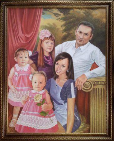 Семейный портрет маслом в Харькове — правильная традиция…