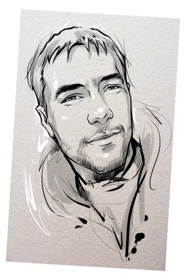 Портрет карандашом любимому мужу в Харькове…
