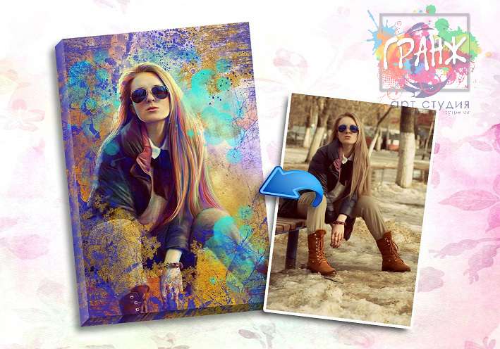Портрет по фото на заказ в честь 8 марта в Харькове