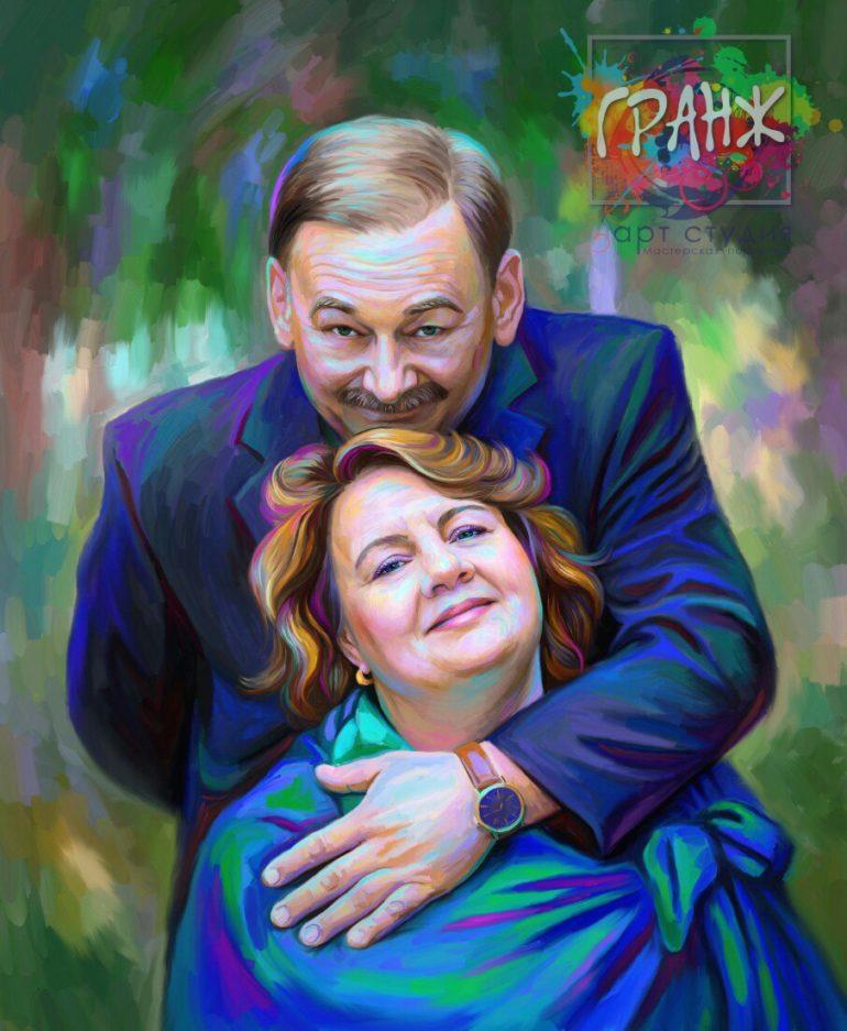 Портрет по фото на холсте Харьков