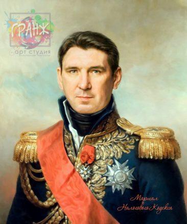 Портрет по фото на холсте в подарок мужчине на 23 февраля Харьков