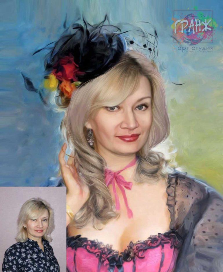 Заказать арт портрет по фото на холсте в Харькове