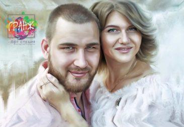 Где заказать портрет по фотографии на холсте в Харькове?