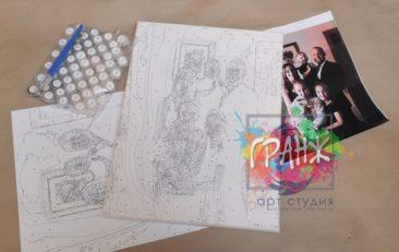 Картина по номерам по фото, портреты на холсте и дереве в Харькове